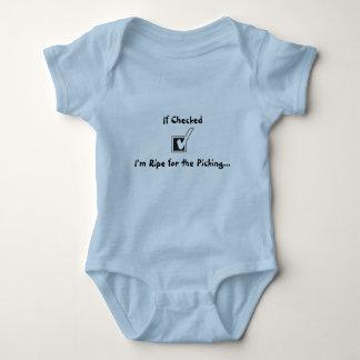 Snap-Crotch Easy Change Crawler Funny Saying Baby Bodysuit