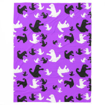 Snap Dragon purple dog fleece blanket