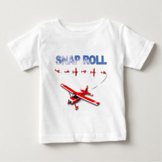 Snap Roll Aerobatic maneuver with Red Airplane Baby T-Shirt