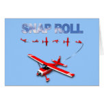 Snap Roll Aerobatic maneuver with Red Airplane Card