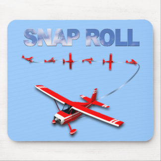 Snap Roll Aerobatic maneuver with Red Airplane Mouse Pad