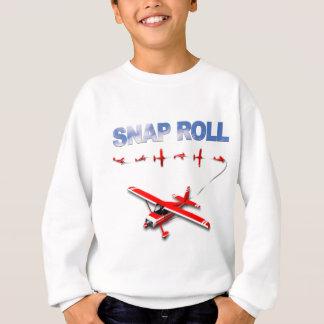 Snap Roll Aerobatic maneuver with Red Airplane Sweatshirt