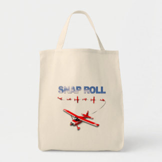 Snap Roll Aerobatic maneuver with Red Airplane Tote Bag