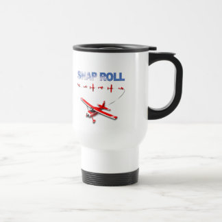 Snap Roll Aerobatic maneuver with Red Airplane Travel Mug