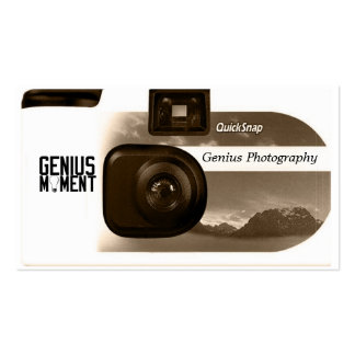 Snap Shot Photography Business Card (Sienna)