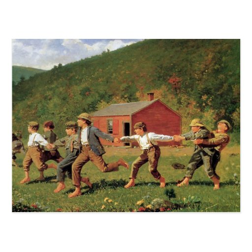 Snap the Whip by Winslow Homer Postcards