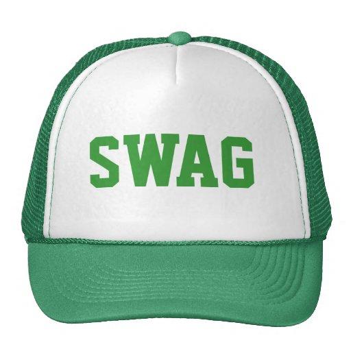 snapback verde del swag gorros