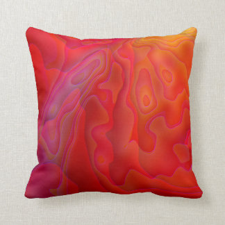 Snapdragon Caverns Abstract Throw Pillow