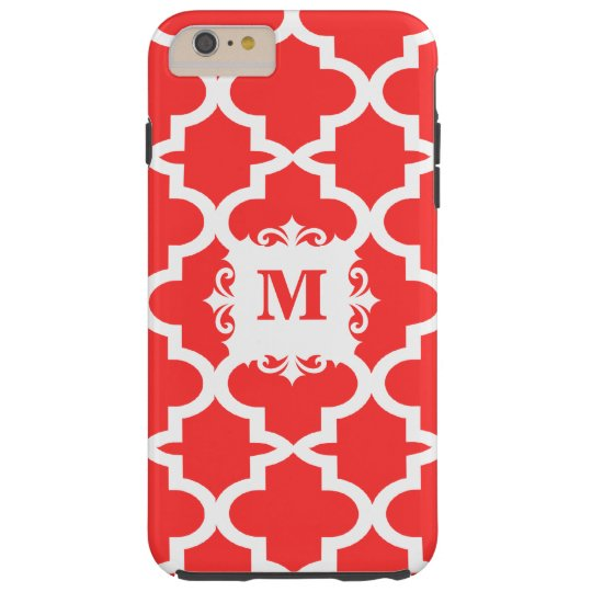 Snapdragon Coral Moroccan Tile Personalized iPhone Tough iPhone 6 Plus Case