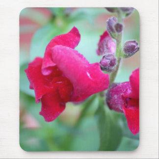 Snapdragon Dark Pink Magenta Flower Mouse Pad