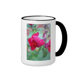 Snapdragon Dark Pink Magenta Flower Ringer Mug
