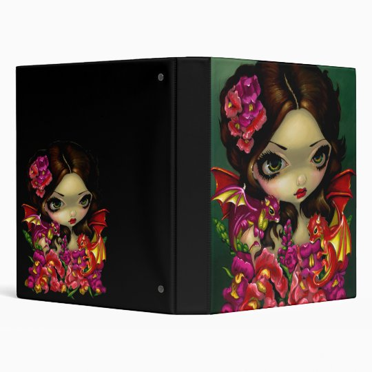 Snapdragon Fairy BINDER dragons fantasy flowers