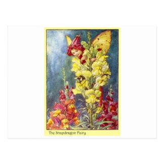 Snapdragon Fairy Postcard