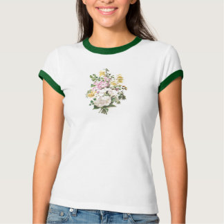Snapdragon & Phlox Bouquet Victorian Trade Card T-Shirt