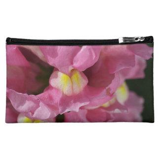 Snapdragon Pink Flower Cosmetic Bag