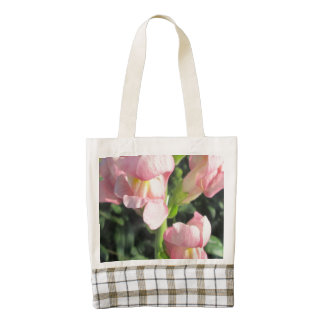 Snapdragon Pink Flower Zazzle HEART Tote Bag