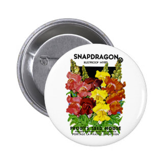 Snapdragon Vintage Seed Packet Button