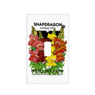 Snapdragon Vintage Seed Packet Light Switch Cover