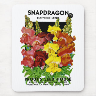 Snapdragon Vintage Seed Packet Mouse Pad