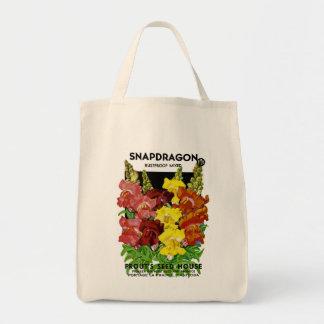 Snapdragon Vintage Seed Packet Tote Bag
