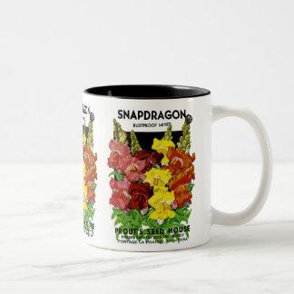 Snapdragon Vintage Seed Packet Two-Tone Coffee Mug