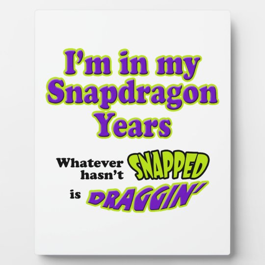 Snapdragon Years Plaque