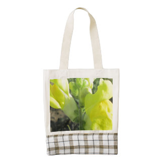Snapdragon Yellow Flower Zazzle HEART Tote Bag