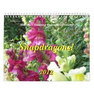 Snapdragons! 2012 calendar