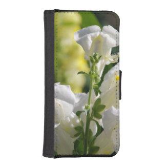 Snapdragons blanco funda tipo billetera para iPhone 5