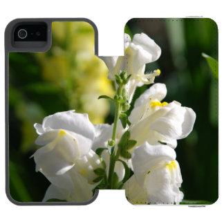 Snapdragons blanco funda billetera para iPhone 5 watson