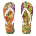 Snapdragons Colorful Floral Flip Flops