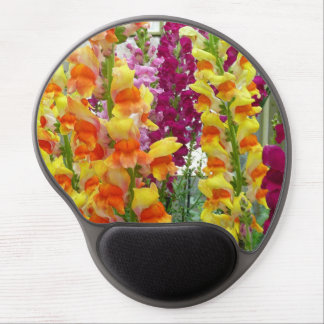 Snapdragons Colorful Floral Gel Mouse Pad