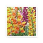 Snapdragons Colorful Floral Paper Napkin