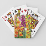 Snapdragons Colorful Floral Playing Cards