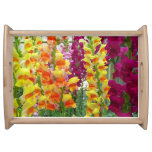 Snapdragons Colorful Floral Serving Tray