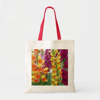 Snapdragons Colorful Floral Tote Bag