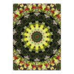 "Snapdragons Kaleidoscope 1 5"" X 7"" Invitation Card"