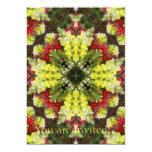 "Snapdragons Kaleidoscope 2 5"" X 7"" Invitation Card"