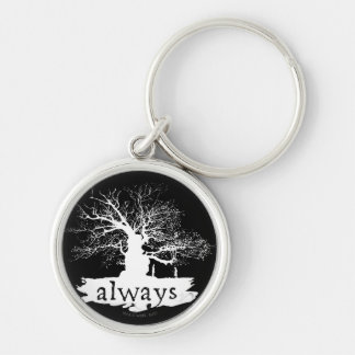 Snape And Lily - Always Silver-Colored Round Keychain