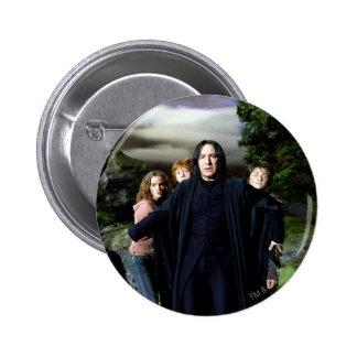 Snape Hermoine Ron Harry 2 Inch Round Button
