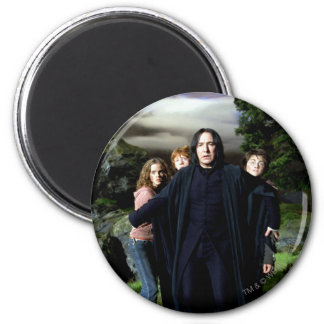 Snape Hermoine Ron Harry 2 Inch Round Magnet