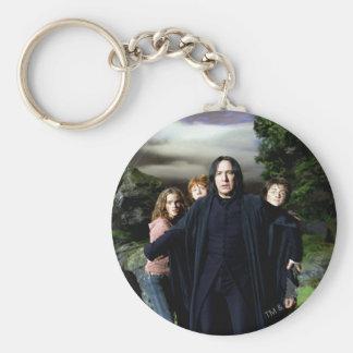 Snape Hermoine Ron Harry Basic Round Button Keychain