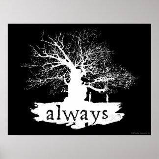 Snape y lirio - siempre póster