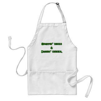 snapin necks and cashin checks adult apron