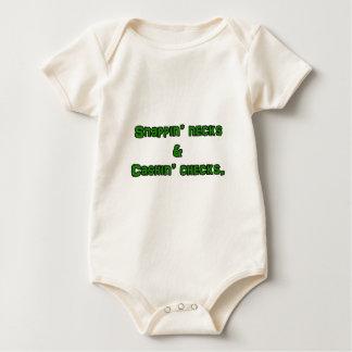 snapin necks and cashin checks baby bodysuit