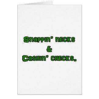 snapin necks and cashin checks card