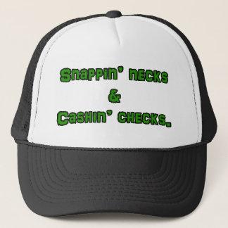 snapin necks and cashin checks trucker hat