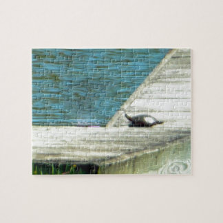 Snapper Turtle Dock Jigsaw Puzzle
