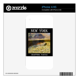 Snapping Turtle (New York) Decals For The iPhone 4S