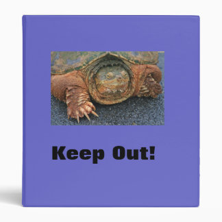 Snapping Turtle Private Binder for Personal Papers